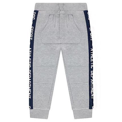Pantalon de jogging en molleton avec bandes contrastées et poche
