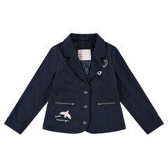 Blazer en molleton avec badges et poches zippées