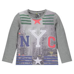 Tee-shirt manches longues print New York