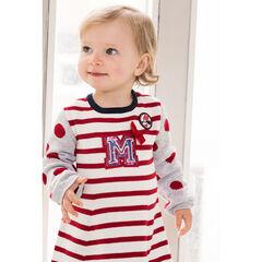 Robe manches longues en tricot avec initiale de Minnie en sequins ©Disney