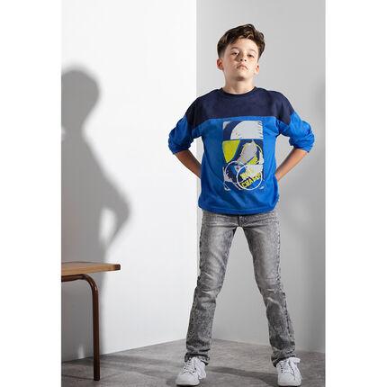 Junior - Tee-shirt manches longues avec texte printé au dos