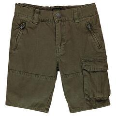 Bermuda en coton avec poches zippées