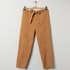 Pantalon de grossesse fluide avec ceinture à nouer , Prémaman