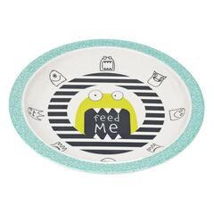 Assiette mélamine/silicone Little Monsters - Bouncing Bob
