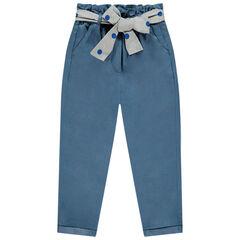 Pantalon en tencel avec ceinture nouée à pois , Orchestra