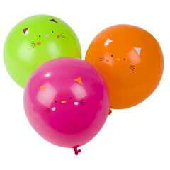 10 ballons gonflables motif chat