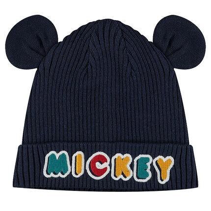 7c8e6d888a70 Bonnet en tricot côtelé avec oreilles en relief ©Disney Mickey ...