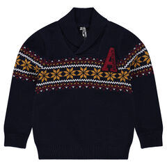 Pull en tricot à motif jacquard
