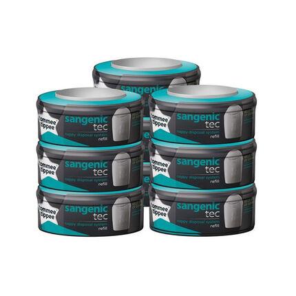 Lot de 9 recharges pour poubelle à couches Tec