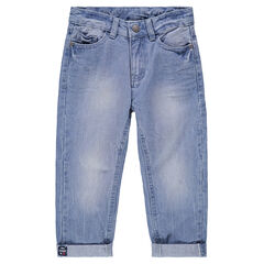 Jeans effet used et crinkle avec poches