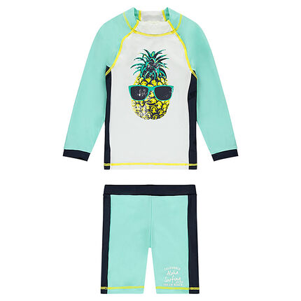 Ensemble de bain anti-uv print ananas