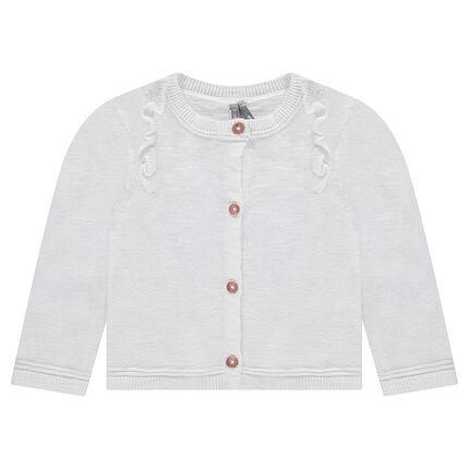 Gilet en tricot chiné avec volants