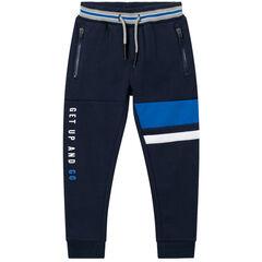 Pantalon de jogging en molleton gratté à inscriptions printées