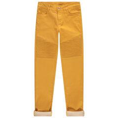 Pantalon uni avec empiècement