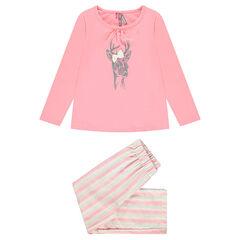 Pyjama long print cerf