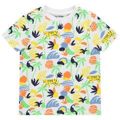 T-shirt manches courtes à imprimé esprit jungle all-over , Orchestra