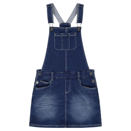 Junior - Robe salopette en molleton effet jeans