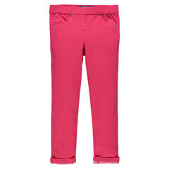 Junior - Jegging en molleton aspect denim