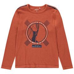 Junior - T-shirt manche longues en jersey avec print fantaisie
