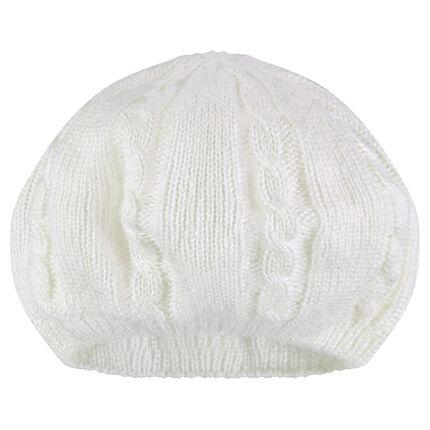 Béret en tricot duoblé jersey