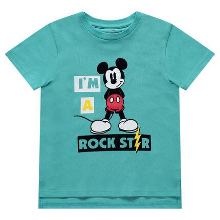 Tee-shirt manches courtes en jersey avec Mickey printé Disney