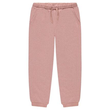 Junior - Pantalon de jogging en molleton mélangé de fil brillant