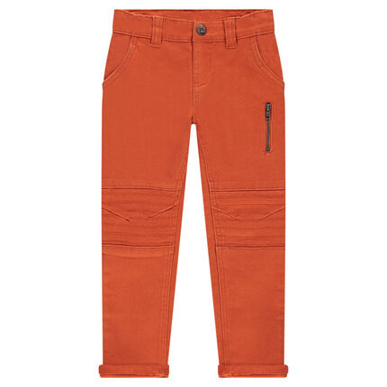 Pantalon coupe slim en twill uni