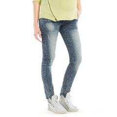 Jeans de grossesse coupe skinny effet neige