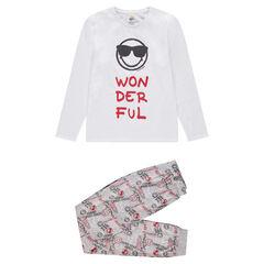 Junior - Pyjama en jersey avec print ©Smiley