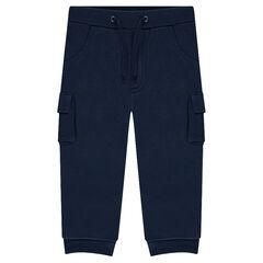 Pantalon de jogging en molleton uni à poches