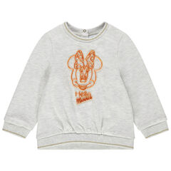 Sweat en molleton chiné Minnie Disney