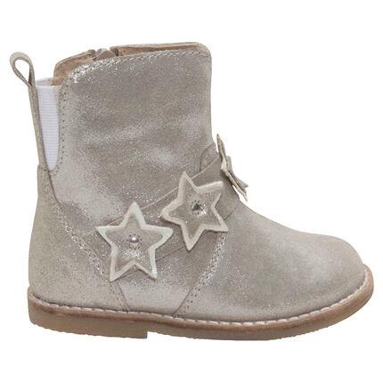 1/2 bottes en cuir à paillettes et étoiles