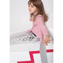 Junior - Jeans slim effet used et crinkle avec étoiles contrastées