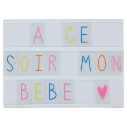 boite lumineuse avec lettres orchestra fr. Black Bedroom Furniture Sets. Home Design Ideas