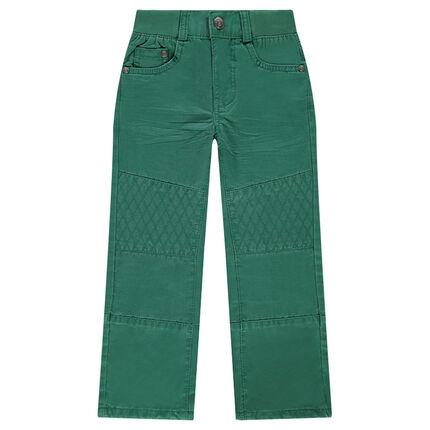Pantalon uni coupe droite à surpiqûres