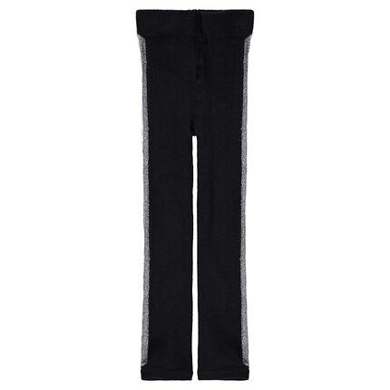 Collants épais avec bandes argentées sur les côtés