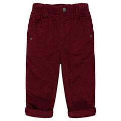 Pantalon en velours doublé jersey