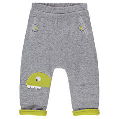 Pantalon en molleton fantaisie avec dinosaure patché