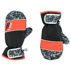 Junior - Moufles de ski imperméables avec imprimé graphique
