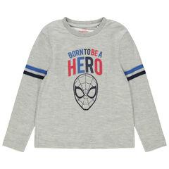 T-shirt manches longues chiné print Spiderman