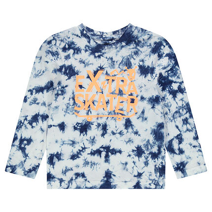 Tee-shirt manches longues en jersey effet shibori