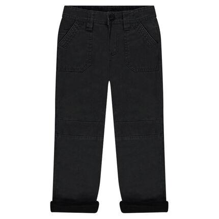 Junior - Pantalon en toile doublé micropolaire