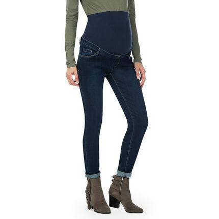 Jeans de grossesse coupe slim avec bandeau haut