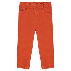 Pantalon slim en toile uni