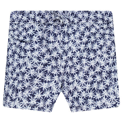 Short de bain imprimé palmiers all-over