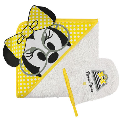 Set de bain en éponge brodé Disney Minnie