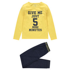 Junior - Pyjama en jersey avec message printé style sportswear
