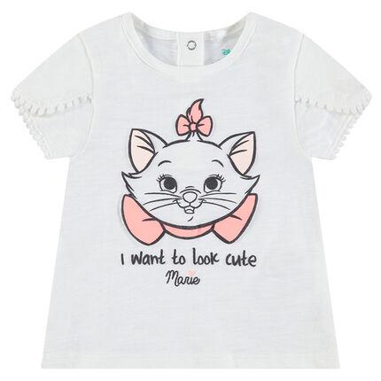 Tee-shirt en coton organique print Marie Aristochats Disney