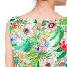 Robe de grossesse volantée avec imprimé tropical