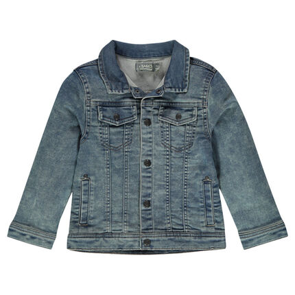 Junior - Veste en molleton effet denim à poches